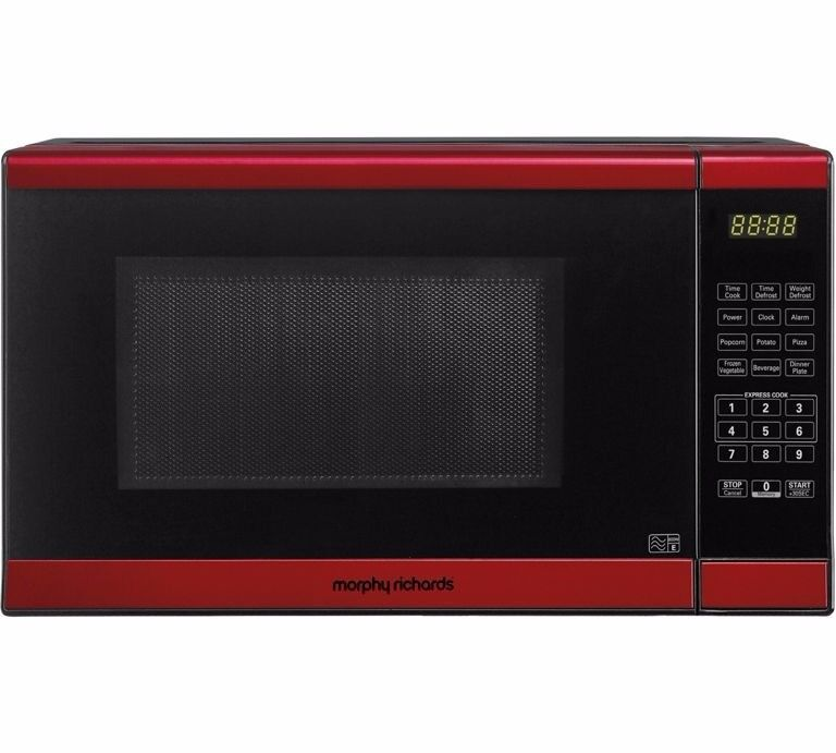Morphy Richards 800w Standard Microwave Red