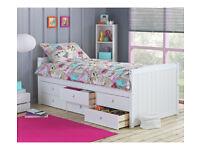 Lennox 6 Drawer Cabin Bed - White