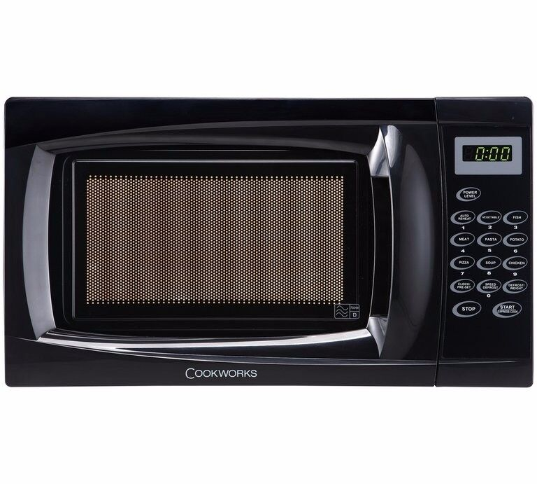 Cookworks 17L 700W Solo Touch Microwave - Black