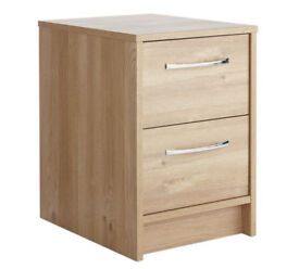 Tilbury 2 Drawer Bedside Chest - Oak Effect