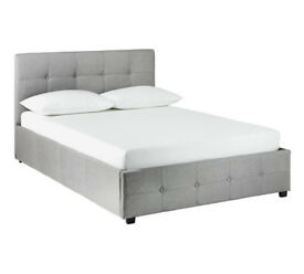 Hygena Eros Grey Ottoman Bed Frame - Double