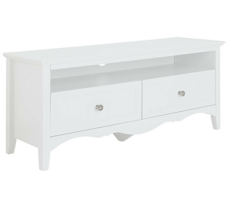 Collection Romantic Large 2 Drawer TV Unit - White