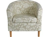 Natural/ Beige floral sitting room / bedroom chair
