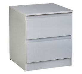 Hygena Inanna 2 Drawer Bedside Chest - White