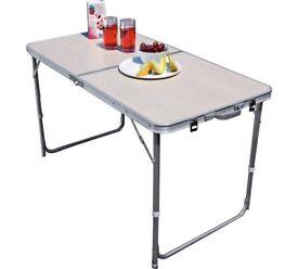 Twin Height Folding Aluminium Table Large In Sherwood