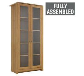 Heart of House Elford 2 Door Display Cabinet - Oak