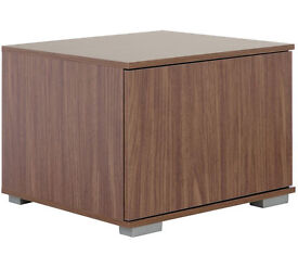 Hygena Modular Base TV Unit - Walnut Graphite