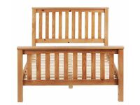 Maximus Double Oak Stained Bed Frame