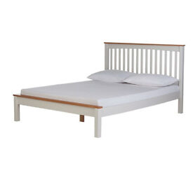 Aspley Small Double Bed Frame - Two Tone