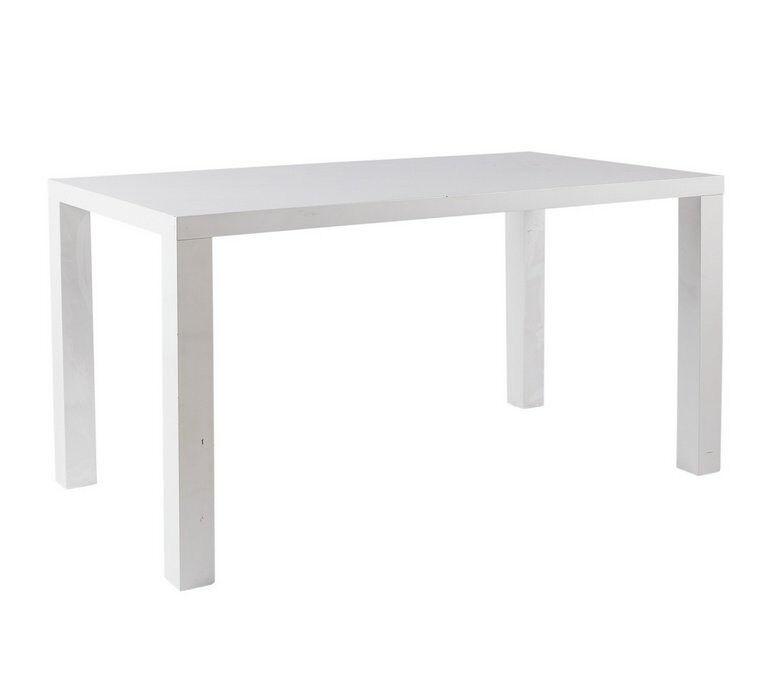 Hygena Lyssa 150cm Dining Table - White Gloss