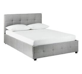 Hygena Eros Grey Ottoman Bed Frame - Superking