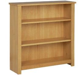 Porto Solid Wood Bookcase - Oak Effect