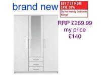 Brand new 3 door 3 drawer wardrobe