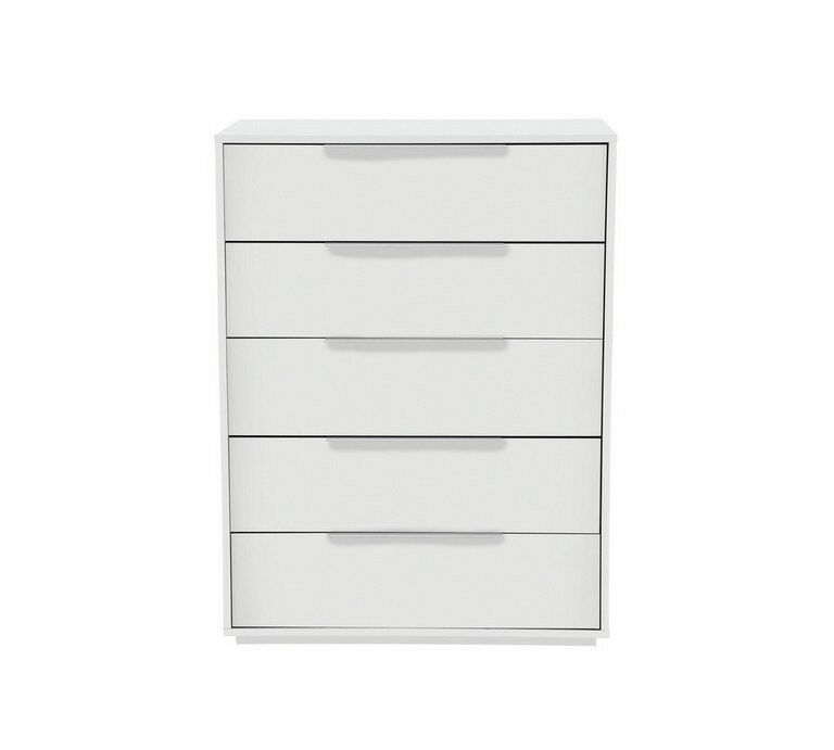 Hygena Bergen 5 Drawer Chest - White
