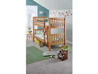 Heavy Duty Single Bunk Bed Frame - Pine