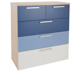 Billie 3 + 2 Drawer Chest - Blue