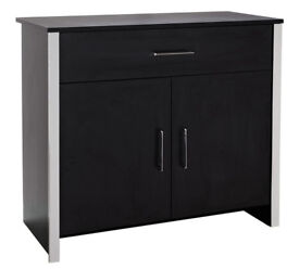 HOME San Marino 2 Door 1 Drawer Sideboard - Black