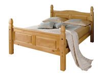 Collection Puerto Rico Double Bed Frame - Light Pine