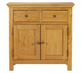 Kingsbury Mini Oak & Oak Veneer Sideboard