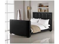 Hygena Costello Kingsize TV Bed - Black