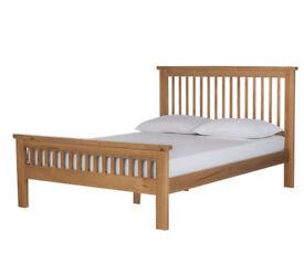Aubrey Kingsize Bed Frame - Oakstain