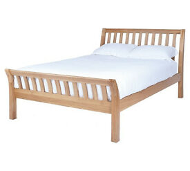 Silentnight Lancaster Kingsize Bed Frame - Solid Oak
