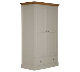 Schreiber Chalbury 2 Door 1 Drawer Wardrobe - White