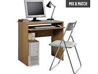 HOME Office Desk and Chair Set - Oak Effect
