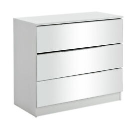 HOME Sandon - 3 Drawer Chest - White and Mirrored