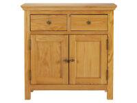 Kingsbury Mini Oak & Oak Veneer Sideboard