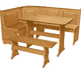 Puerto Rico Nook Table 3 Corner Bench Set - Pine