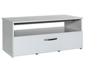 Hygena Hayward 1 Drawer 1 Shelf Coffee Table - White Gloss