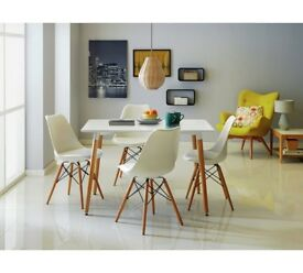 White 4 Seater Dining Table