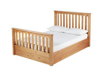 Maximus Kingsize Ottoman Bed Frame - Oak Stained