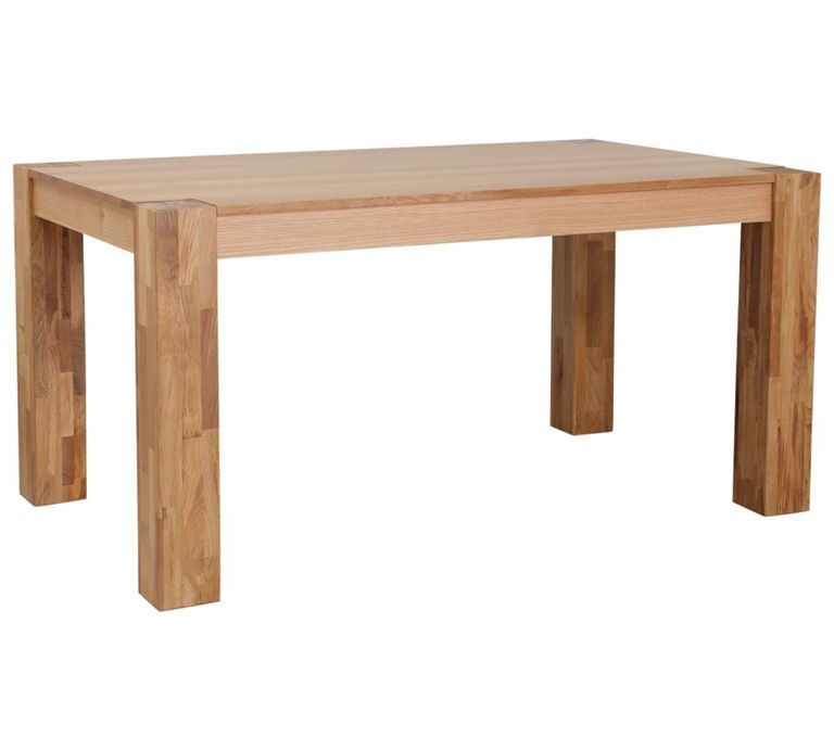 """Heart of House Alston Oak Veneer 150cm Dining Tablein Sheffield, South YorkshireGumtree - Brand new in box.call or message me for any infro. """"The Heart of House Alston dining table has a beautiful design crafted from a blend of solid oak and oak veneer. Each leg has a chunky look which complements the style of the table as well as adding..."""