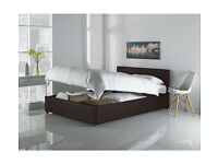Hygena Lavendon Double Ottoman Bed Frame - Chocolate