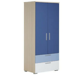 Billie 2 Door 2 Drawer Wardrobe - Blue
