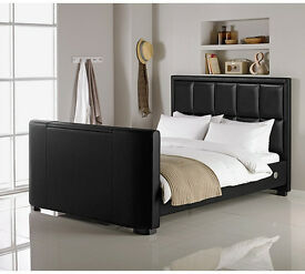 Hygena Costello Kingsize TV Bed - Black