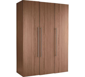Hygena Atlas 3 Door Tall Wardrobe - Walnut Effect