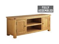 Heart of House Kent Large Solid Oak & Oak Veneer TV Bench