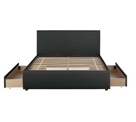 Hygena Beckett Kingsize 2 Drawer Bed Frame - Black