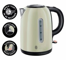 Russell Hobbs Westminster Cream Stainless Steel Kettle
