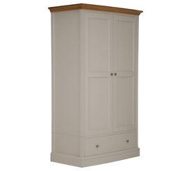 Schreiber Chalbury 2 Door 1 Drawer Wardrobe - White