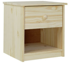 Jakob 1 Drawer Bedside Chest - Pine