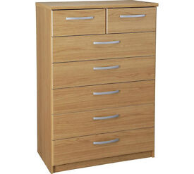 Collection New Hallingford 5+2 Drawer Chest - Oak Effect