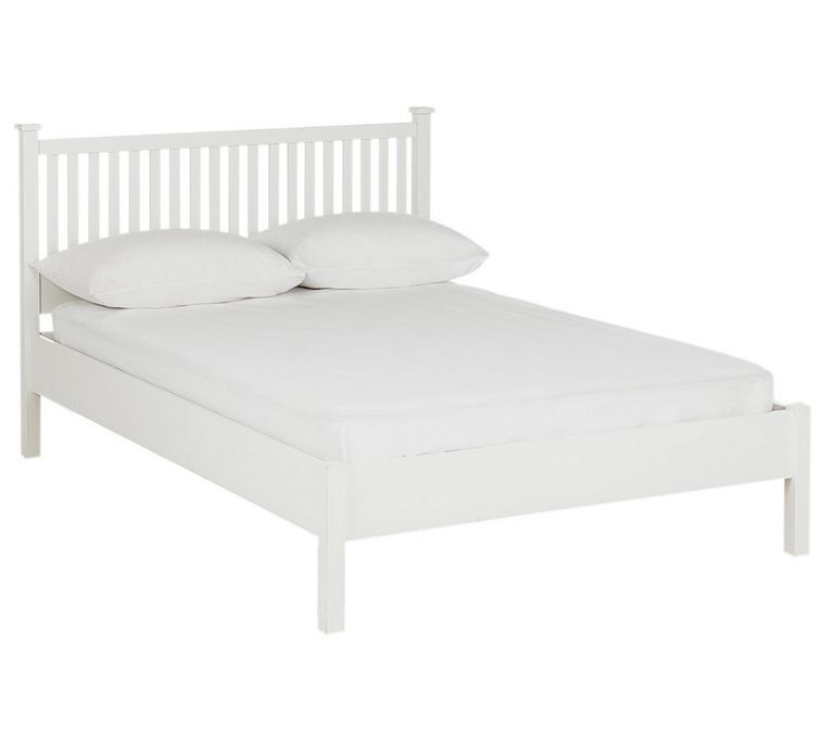 "HOME Adalia Small Double Bed FrameWhitein Aston, West MidlandsGumtree - call or text me for more details. Brand new in box. ""Part of the Adalia collection. Solid wood frame. Base with wooden slats. Size W132, L203, H104cm. 21cm clearance between floor and underside of bed. Weight 34kg."" can deliver any day for £15"
