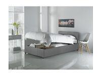 Hygena Lavendon Single Ottoman Bed Frame - Grey