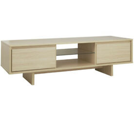 Linear 2 Drawer TV Unit - Light Oak