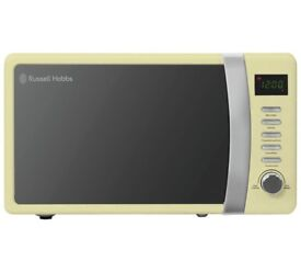 Russell 700W Standard Microwave - Cream