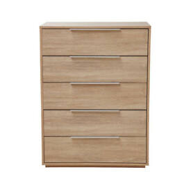 Hygena Bergen 5 Drawer Chest - Oak Effect